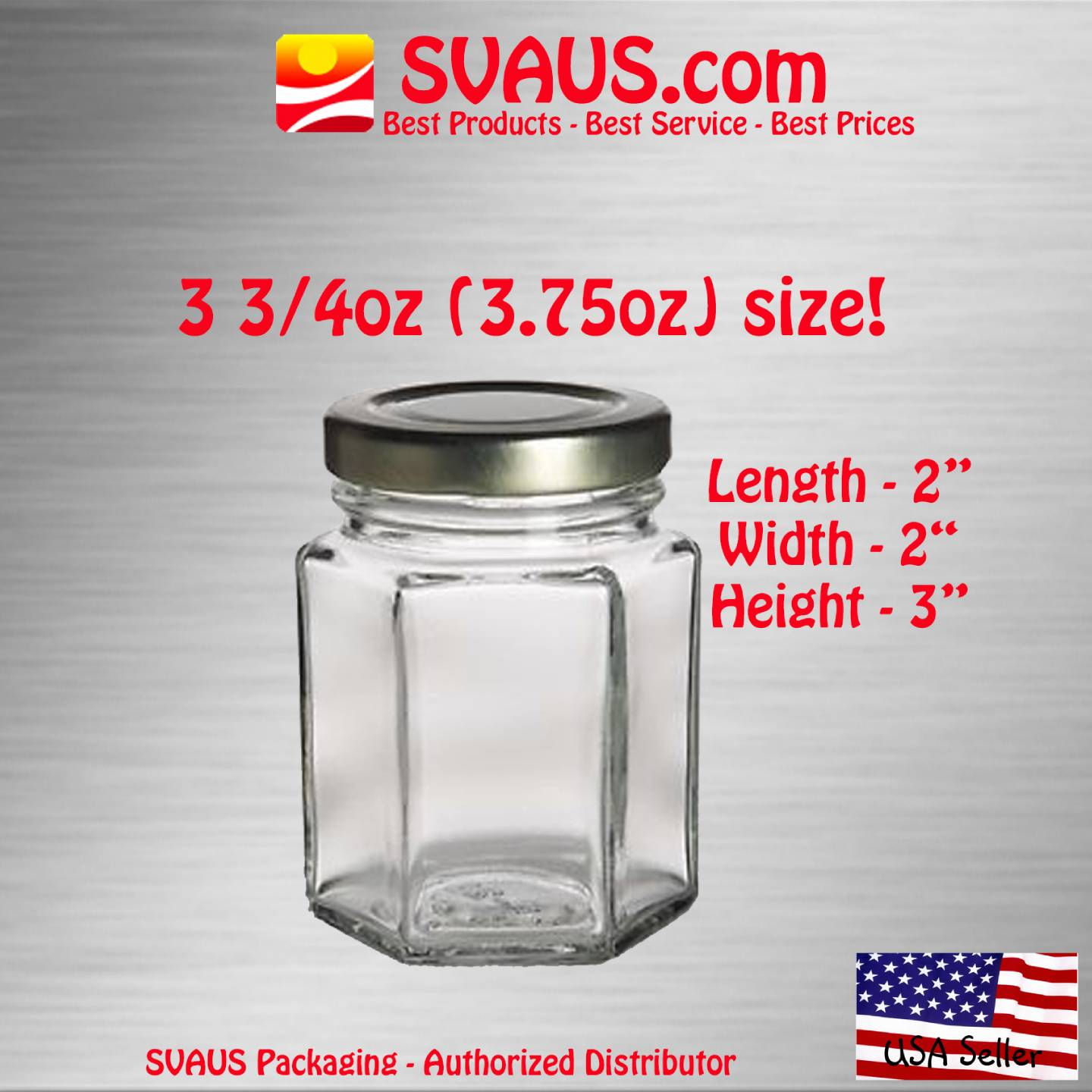 hexagon hex glass jars candles honey 3 3 4 oz w lids lot sizes free shipping ebay. Black Bedroom Furniture Sets. Home Design Ideas