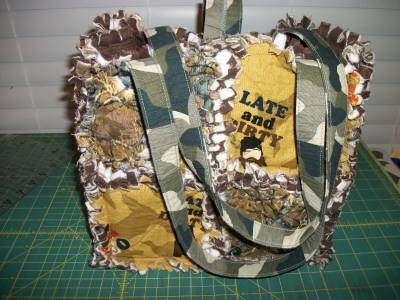 Duck Dynasty, Camouflage, Rag quilt Purse/ tote/ Diaper bag