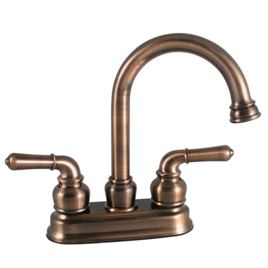 Ldr 44024br High Arc Brushed Bronze 4 Centerset Bathroom Sink Washerless Faucet Ebay