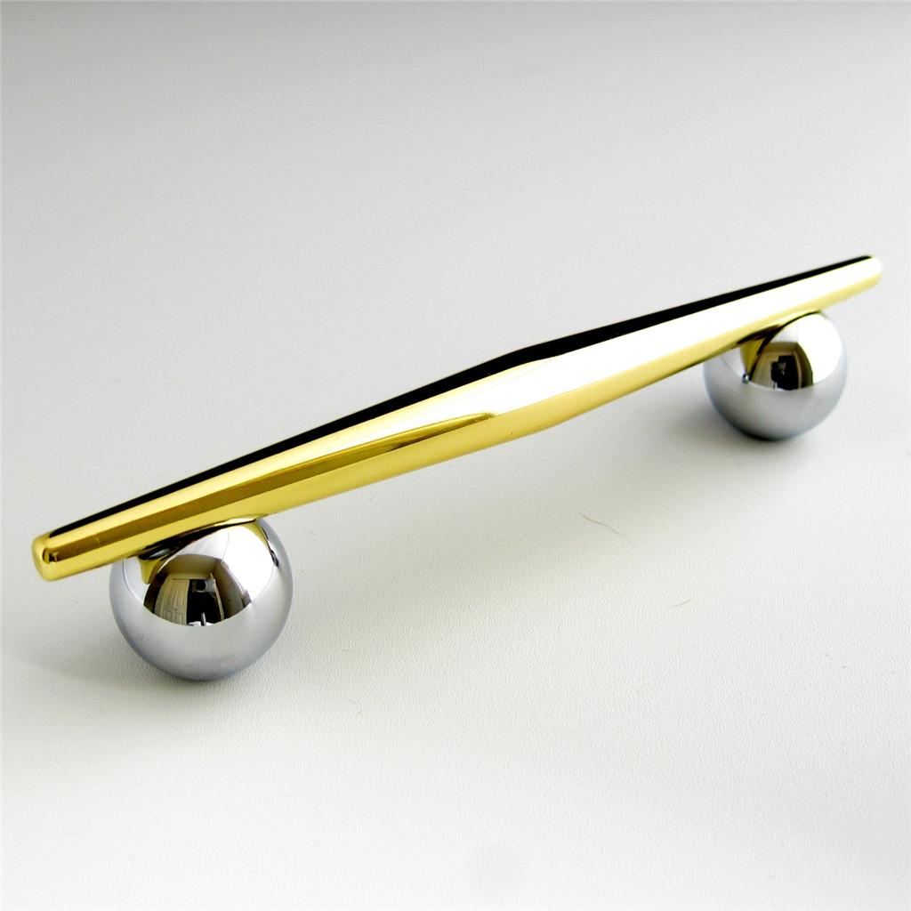 Liberty retro modern cabinet handle polished chrome and gold brass drawer pull ebay Fingertip design kitchen door handles