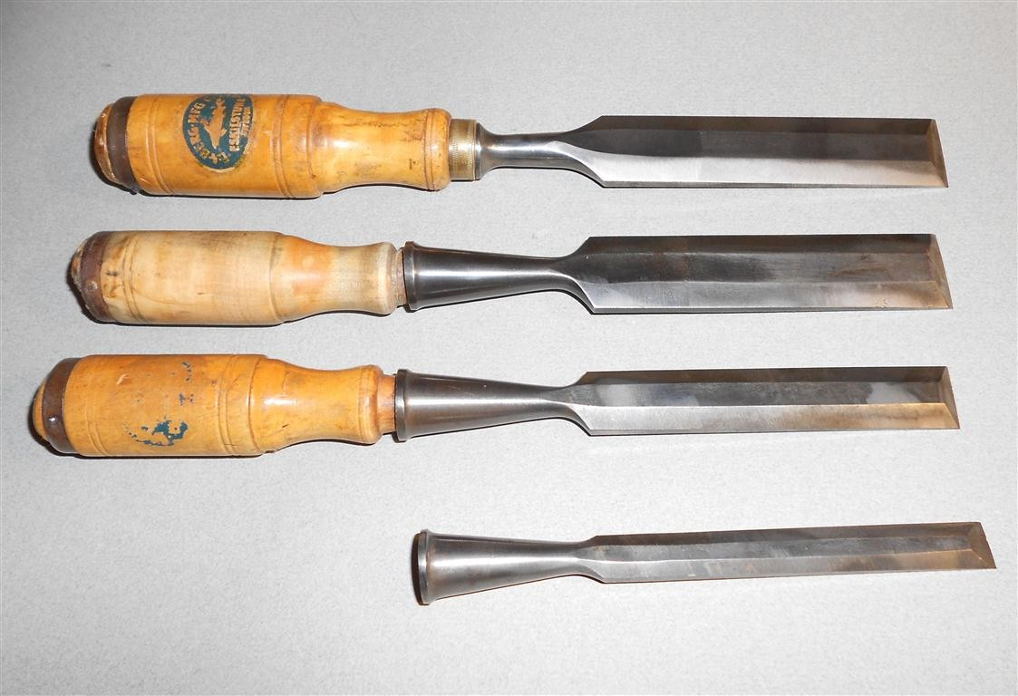 Beautiful Vtg Set Of 5 Buck Bros Wood Chisels Woodworking Tools  EBay