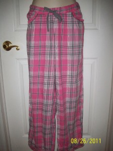 Nwt Victorias Secret Pink Amp Gray Plaid Flannel Pajama