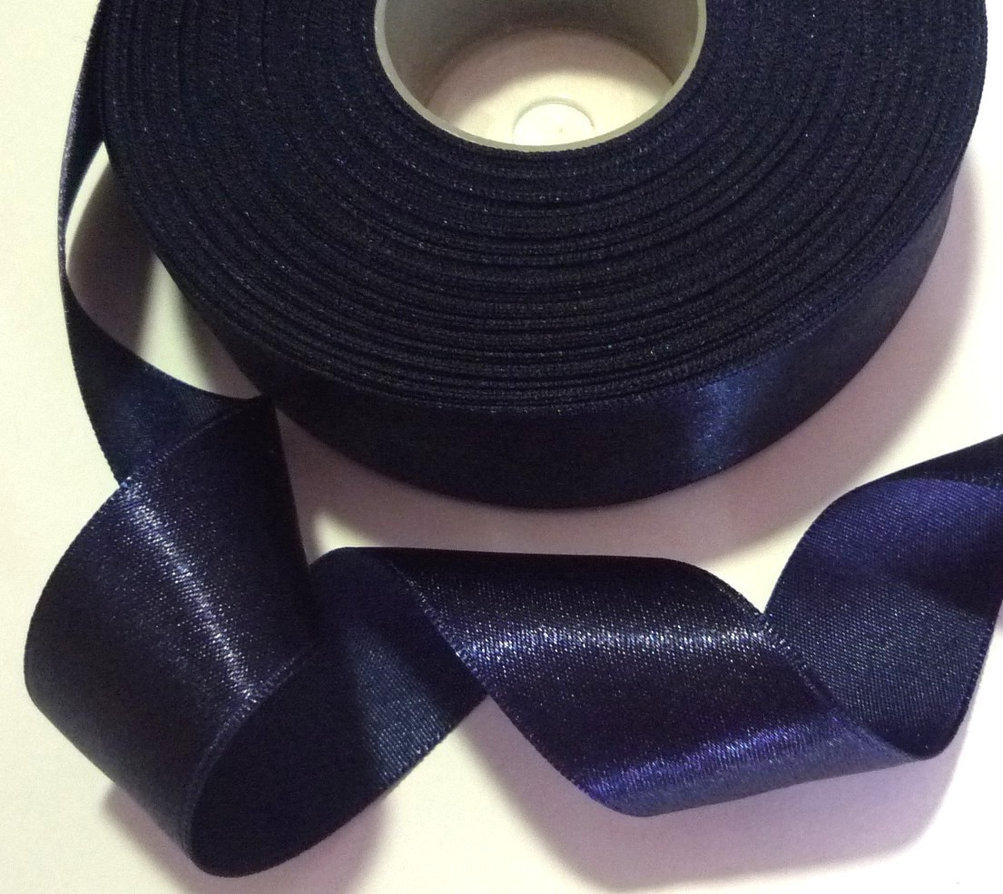 "8 yds 7.3 mts Satin Ribbon Trim Single Faced 1"" 25mm width Upick Color SF8"