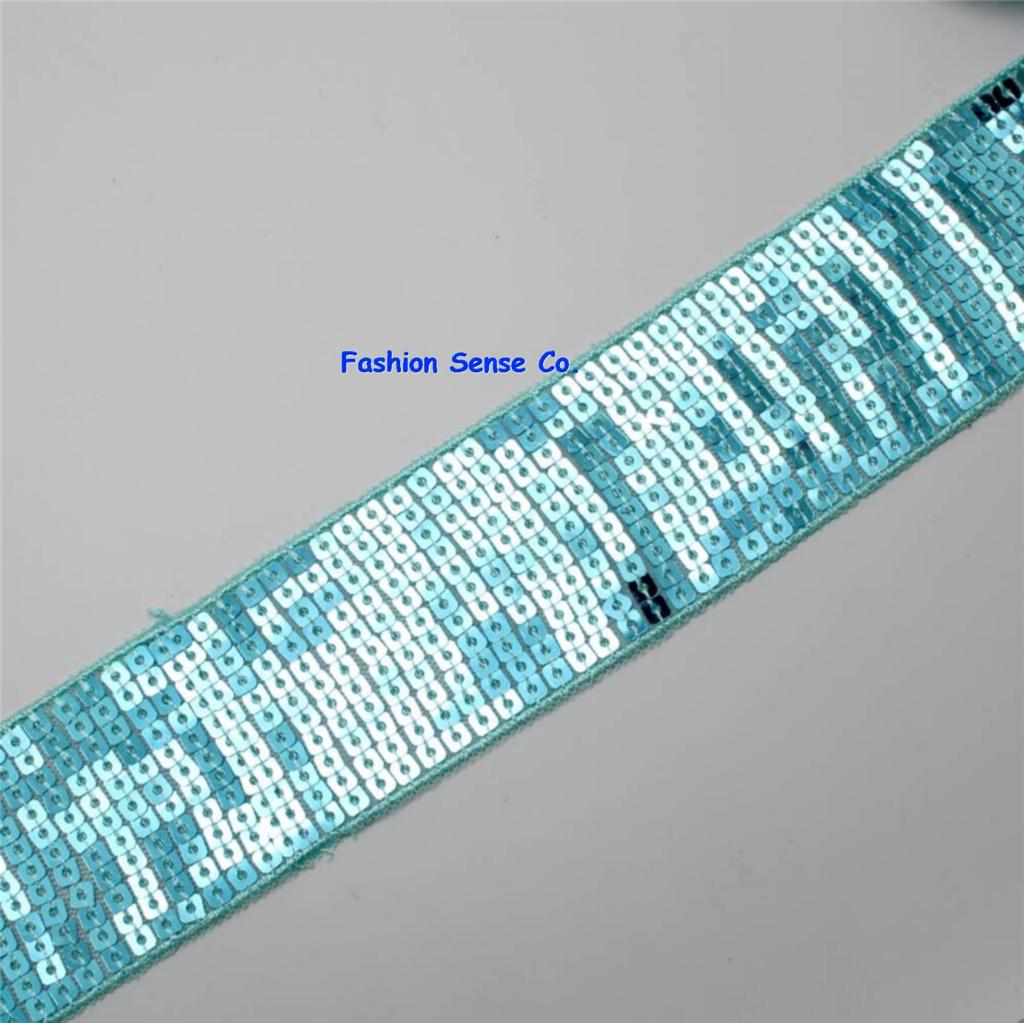 Spangle embroidery sequins ribbon millinery trim banding for Craft ribbons and trims