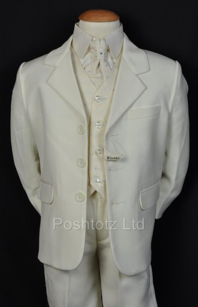 Boys-Suit-Suits-5PC-Cream-Prom-Wedding-Page-Boys-Christening-0-3m-14-15y