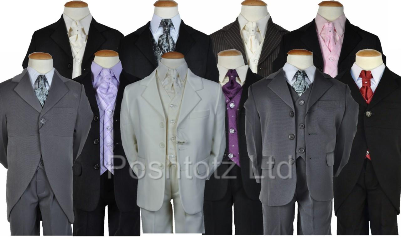 Boys-5pce-suits-0-3mth-14-15yrs-pageboy-christening-formal-wear-Fantastic-value