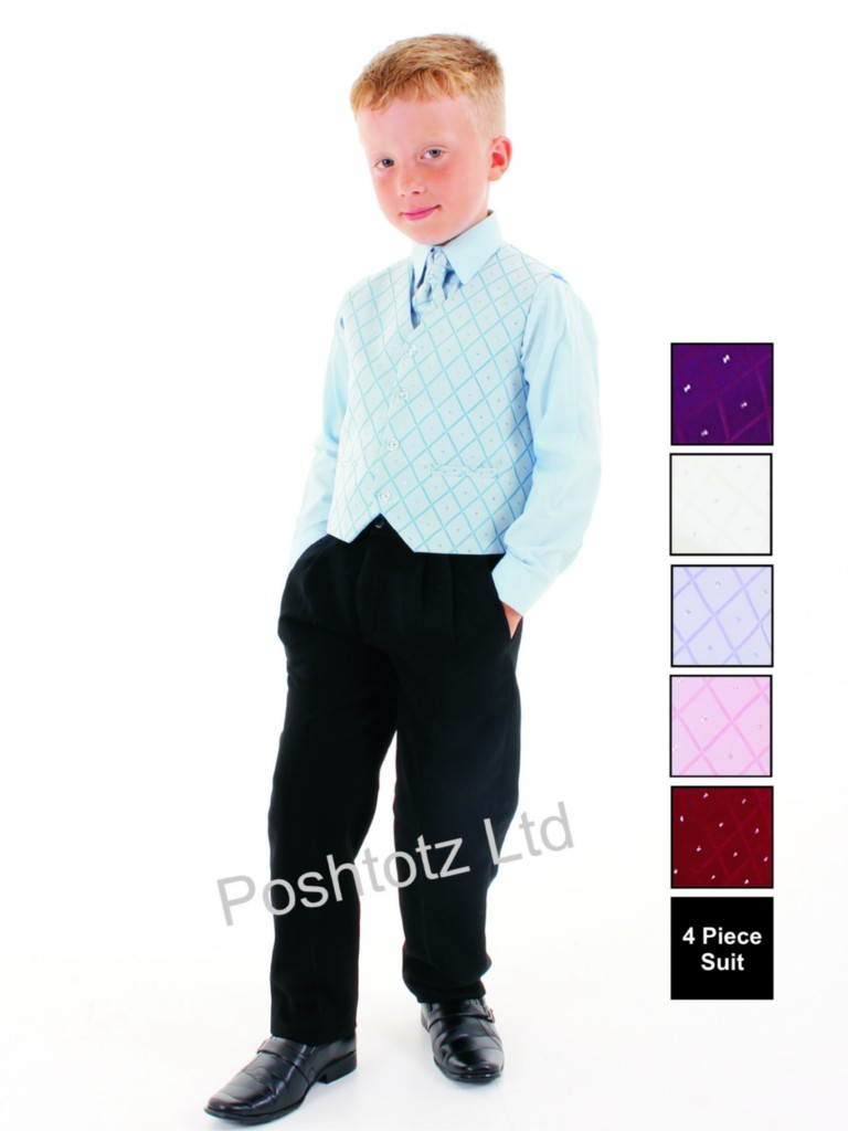 Boys-4-Pc-Blue-Black-Formal-Suit-sutable-for-Weddings-Christenings-and-Prom