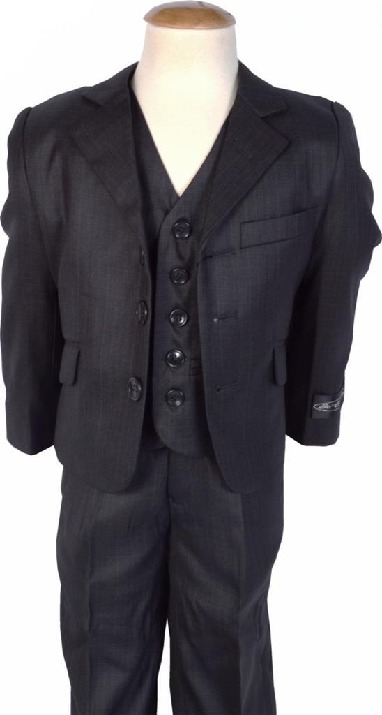 Boy-s-3-Piece-Premium-Dark-Grey-Suit-Formal-Wedding-Pageboy-Prom-1-16-Years