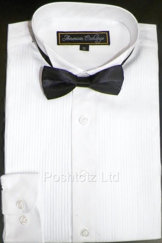 Baby-Boys-Classic-American-Exchange-Tuxedo-Shirt-Wedding-Party-Prom-1-16yrs