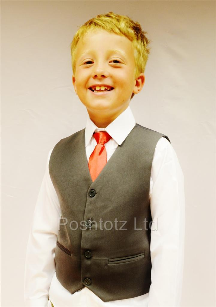 Boys-Smart-Grey-Waistcoat-Wedding-Pageboy-Party-Prom-0-3-months-14-years