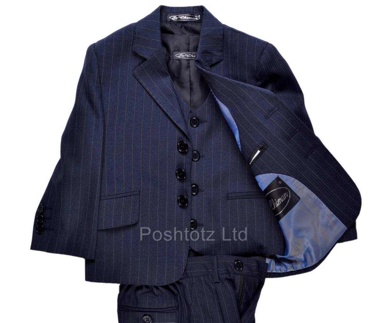 Poshtotz-Baby-Suit-Marco-Navy-Pinstripe-Christening-Wedding-Formal-age-1-3-yrs