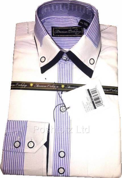 American-Exchange-Boys-White-Shirt-with-Navy-Stripe-Detail-Pageboy-Party-2-16yr