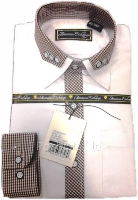 American-Exchange-Boys-White-Shirt-with-Baby-Tan-Gingham-Detail-Party-2-16yr