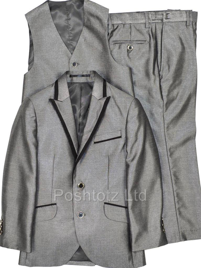 Poshtotz-Boys-Suit-3-piece-Silver-Isaac-Michael-Wedding-Pageboy-Party-2-16yrs