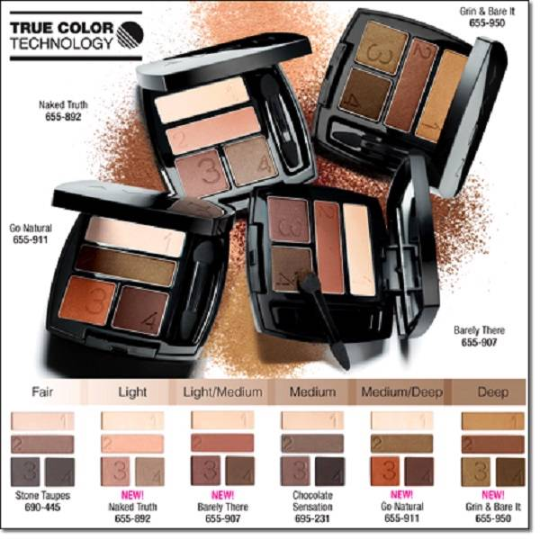 Avon true color eyeshadow quad new neutral colors ebay for Top rated neutral paint colors