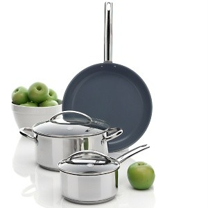 the greenpan stainless steel cookware Enjoy the latest kitchen technology with greenpan's ceramic nonstick cookware shop qvc for a great selection of woks, frying pans, grill pans & more.