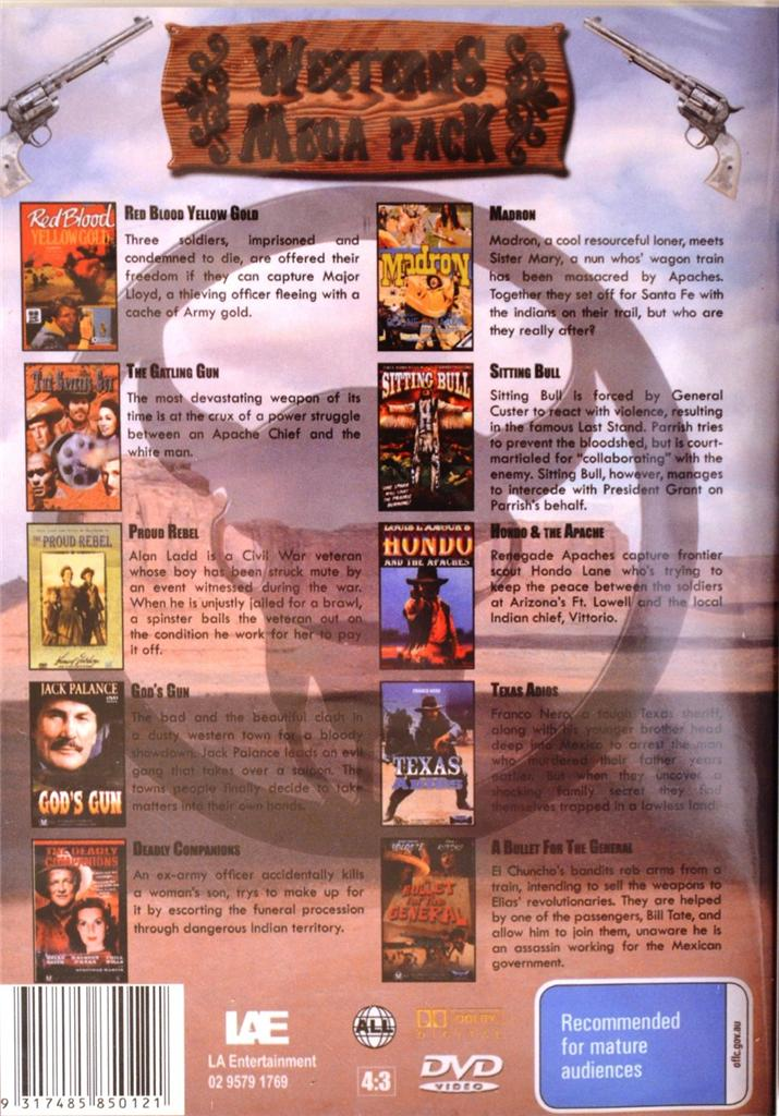 WESTERNS-MEGA-PACK-DVD-MOVIE-BULK-LOT-NEW-SEALED