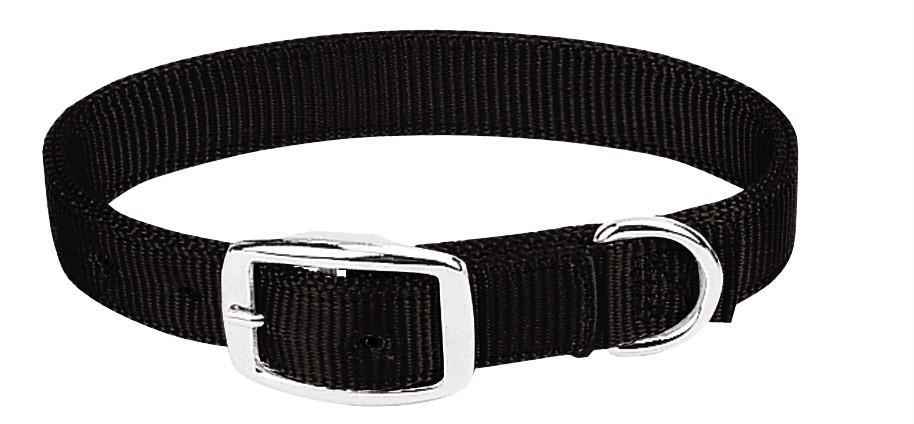 Weaver Dbl Ply Nylon Dog Collar - Black