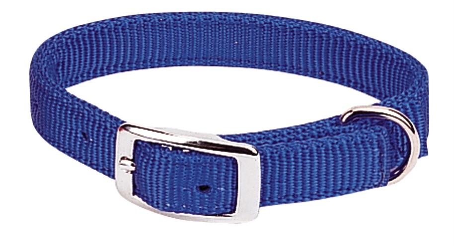 Weaver- Prism dbl ply Nylon Dog Collar - blue