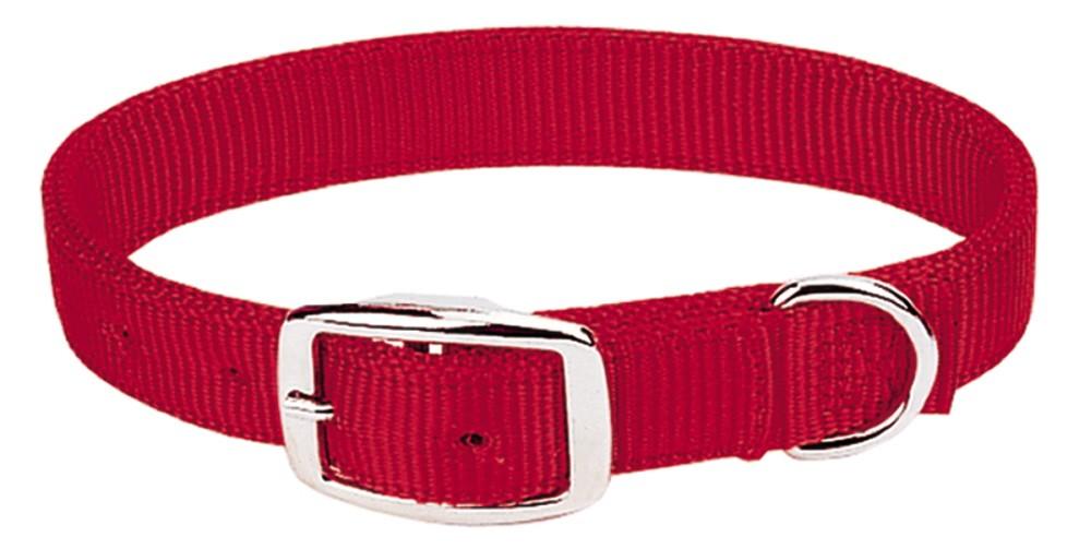 Weaver Prism Dbl Ply Nylon Dog Collar - Red