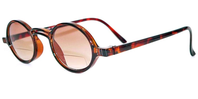 LENNON-UNISEX-TINTED-BIFOCALS-ROUND-RETRO-STYLE-WITH-FREE-POUCH-AND-CLOTH