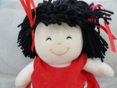 eden soft black yarn hair asian type baby doll rare ebay