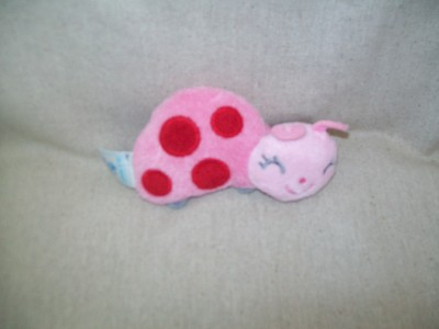 Old Navy Pink Lady Bug Baby Rattle Soft Plush