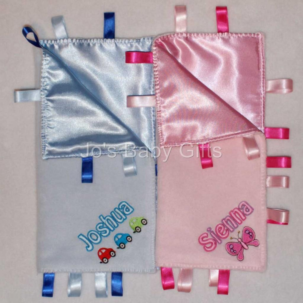 Personalised-Baby-Toddler-Comfort-Taggy-Blanket-Pink-or-Blue-Newborn-Birth-Gift