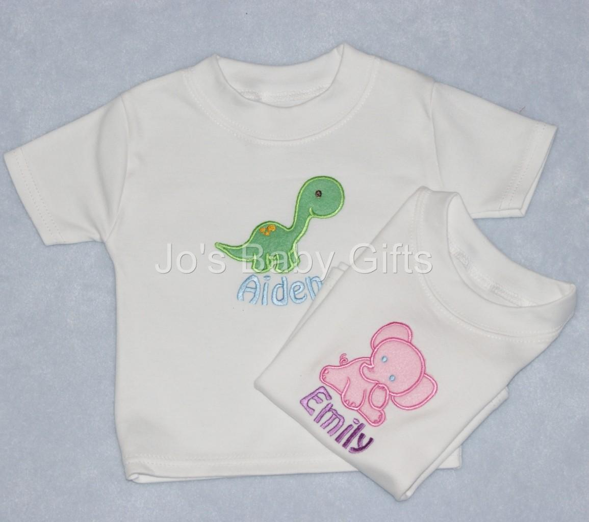 Baby Boy Gift Clothes : Unique personalised baby t shirt clothes any name cute