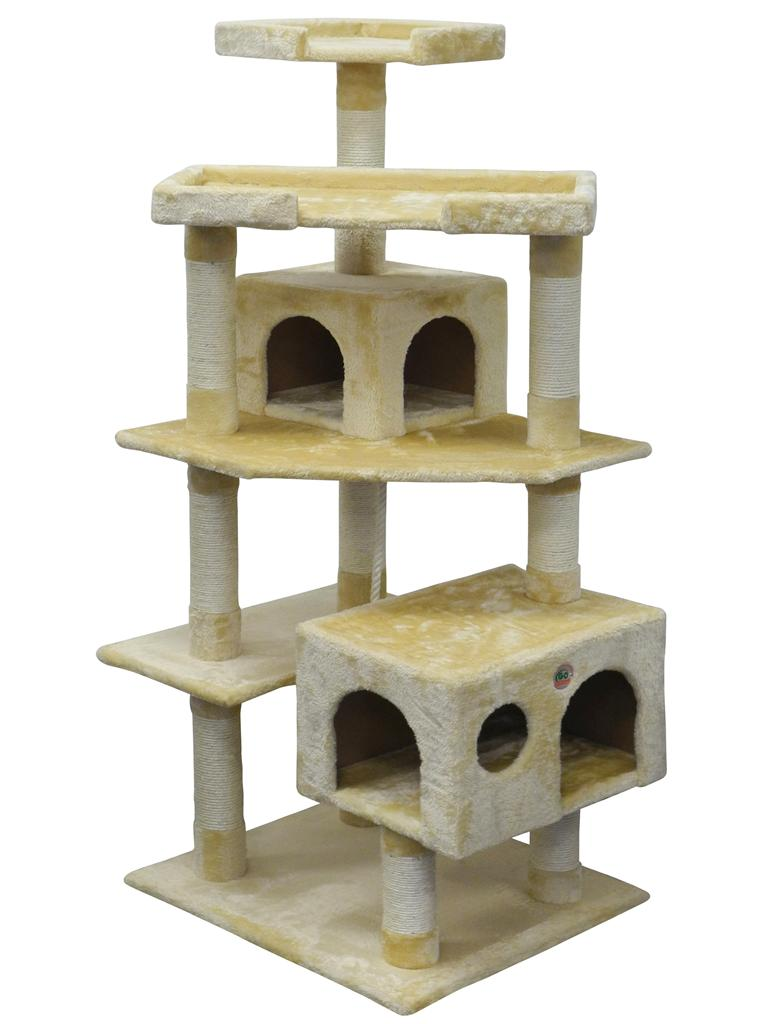 """61"""" Cat Tree House Toy Bed Scratcher Post Furniture"""
