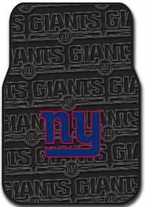 New York Giants Car Seat Covers Floor Mats NFL Set