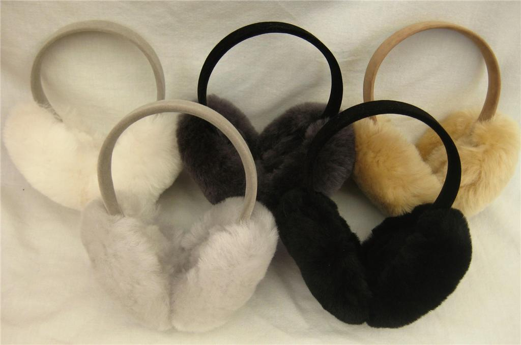 BEST-USA-LUXURIOUS-Lambswool-Lambs-Wool-Sheepskin-Fur-Earmuffs-Hat-Many-Colors
