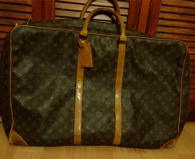 vintage original louis vuitton suitcase holdall bag c1988 made in france ebay. Black Bedroom Furniture Sets. Home Design Ideas