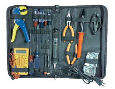 new 25pc electronic tool set electrician kit electrical tools service repair ebay. Black Bedroom Furniture Sets. Home Design Ideas