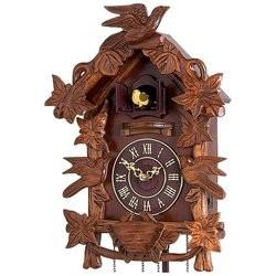 New rustic funky cookoo clock bird autumn design dark wooden finish home decor ebay - Funky cuckoo clock ...