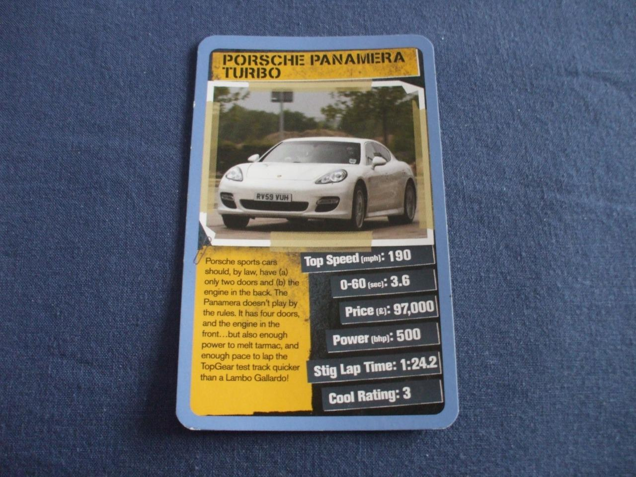 REFTOP TRUMPSTOPGEAR COOL CARS SINGLE CARD SELECTION FROM - Sports cars top trumps