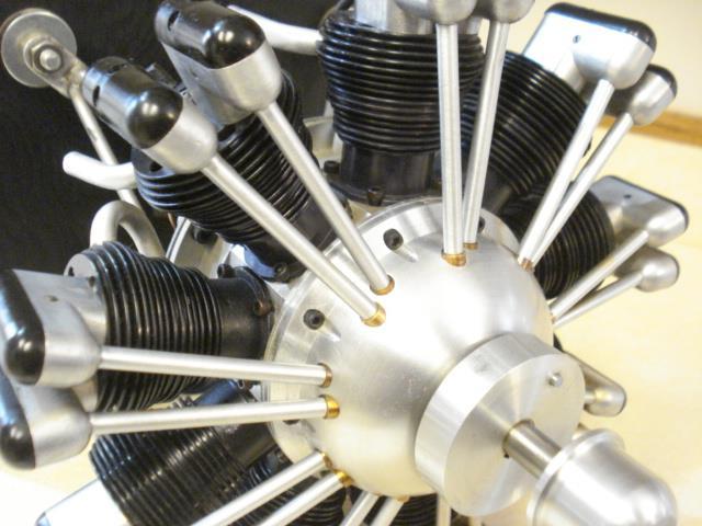 TECHNOPOWER ** 9 CYLINDER RADIAL RC MODEL AIRPLANE ENGINE
