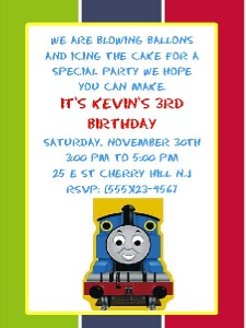 10 custom thomas the train birthday invitations picclick