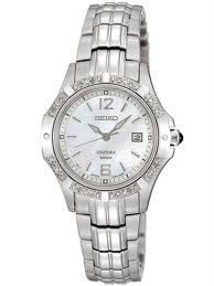 Seiko Coutura Ladies Bracelet Watch Mother of Pearl Dial w Date