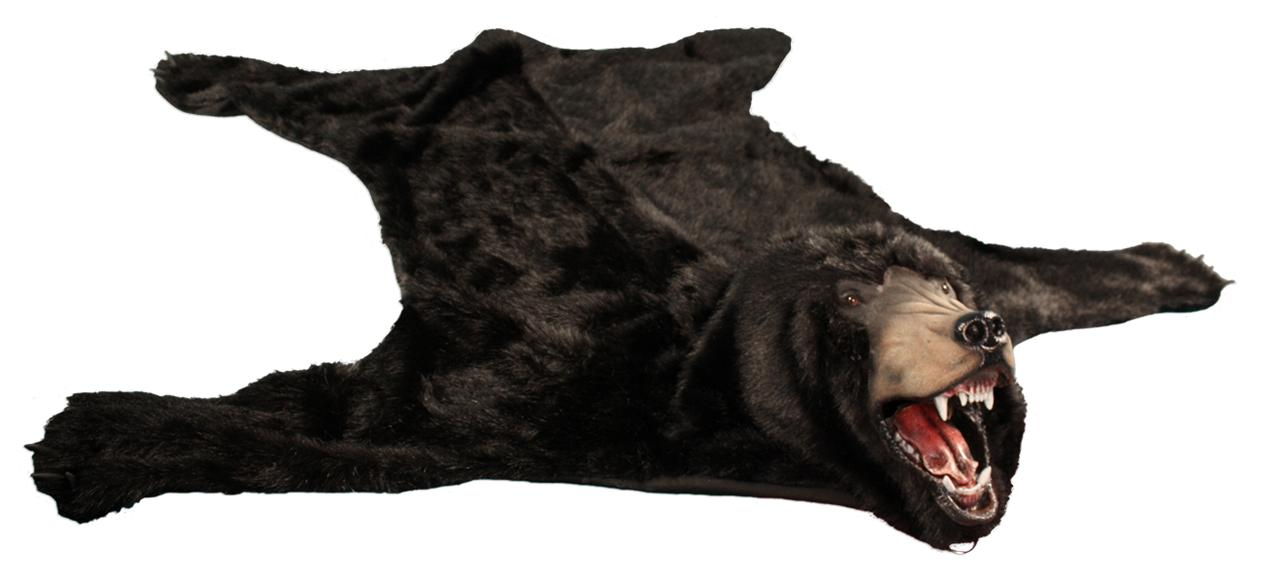 realistic faux bear skin rug brown black or polar white ebay. Black Bedroom Furniture Sets. Home Design Ideas