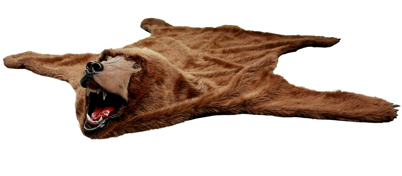 realistic faux bear skin rug black brown white polar ebay. Black Bedroom Furniture Sets. Home Design Ideas