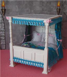 Doll House Castle Fantasy Princess Fairy 4 Poster Bed