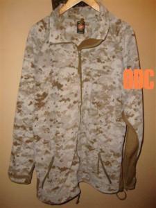 USMC Marine Corps Military Surplus Desert MARPAT Windpro Fleece Jacket