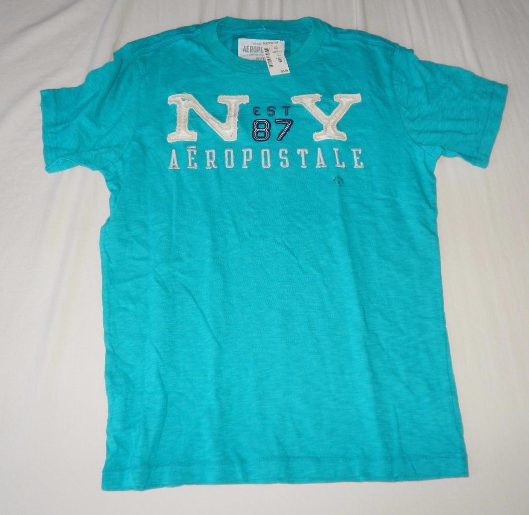 New Men's Aeropostale T-Shirt in Black or Teal - Size S ...