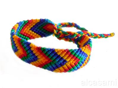 RAINBOW-GAY PRIDE-FRIENDSHIP BRACELET MACRAME 0.75