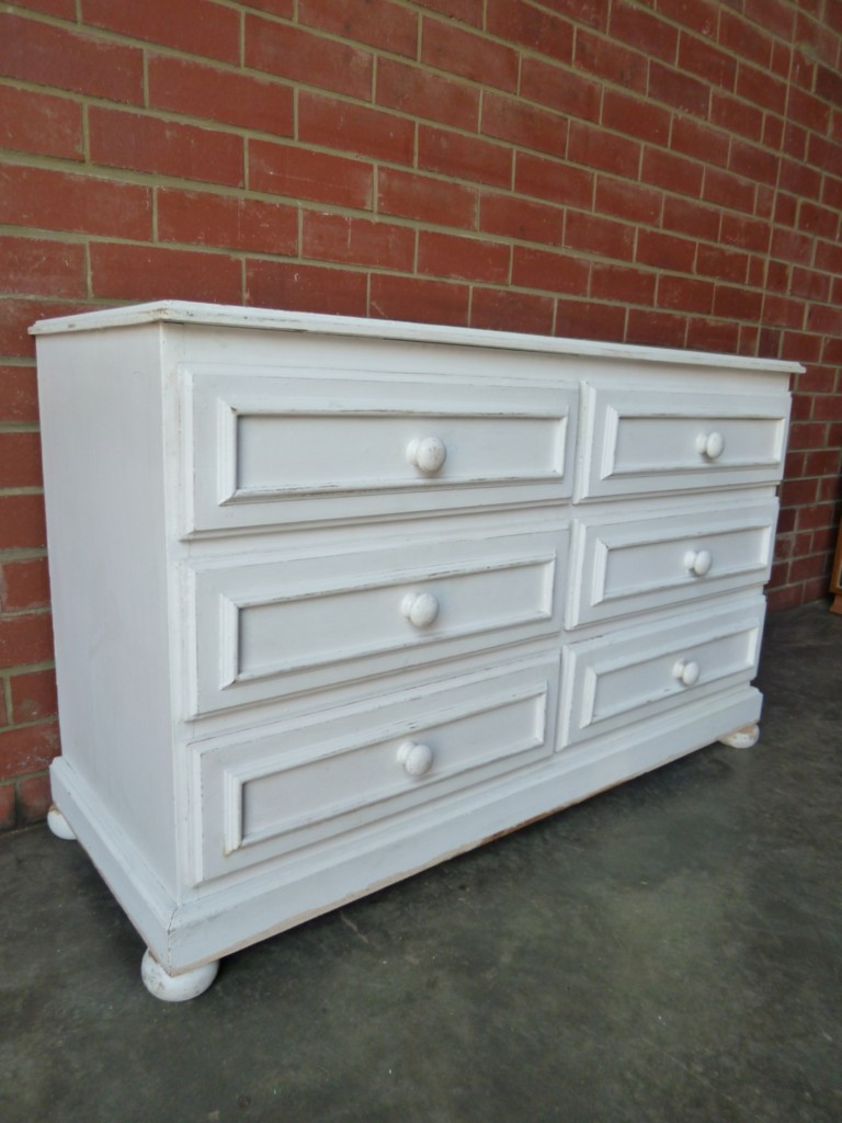 gorgeous large shabby chic french provincial six 6 drawer chest of drawers ebay. Black Bedroom Furniture Sets. Home Design Ideas