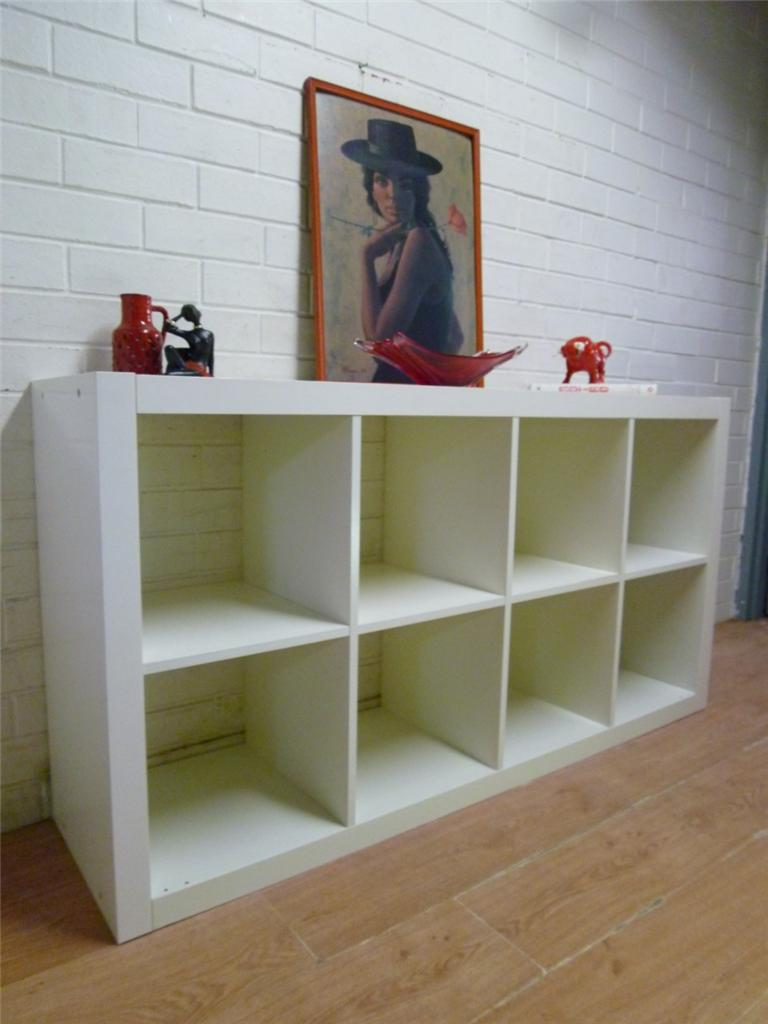 mod ikea 39 expedit 39 cube white bookcase display shelf cube cabinet. Black Bedroom Furniture Sets. Home Design Ideas