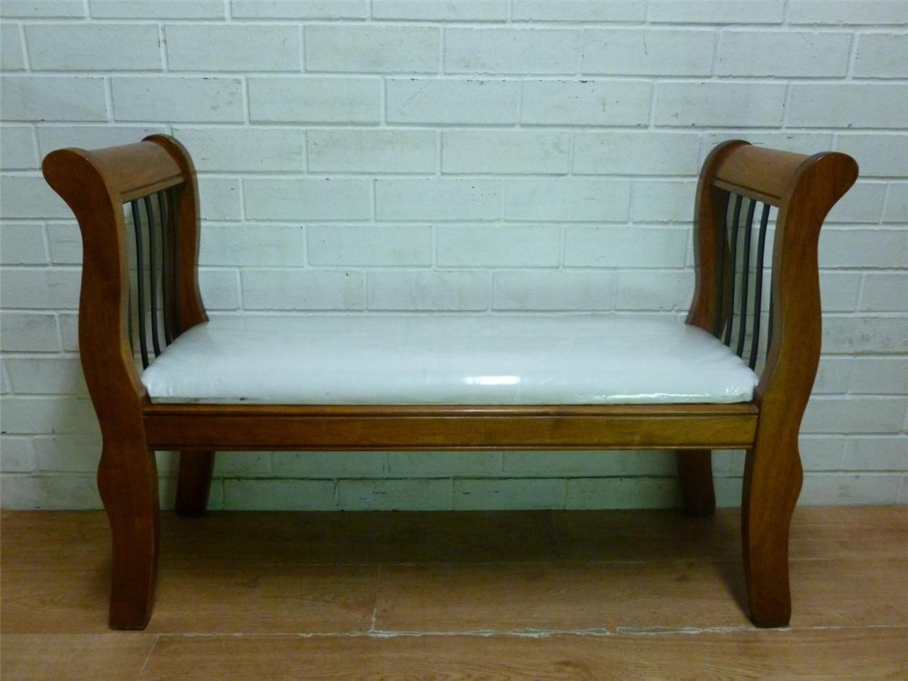 period style solid wood bedroom bench seat chair ebay