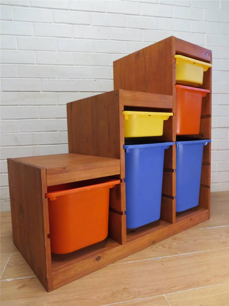 Ikea Hochschrank Wohnzimmer ~ Details about IKEA TROFAST 'STEP' CHILD'S TOY STORAGE UNIT with 6