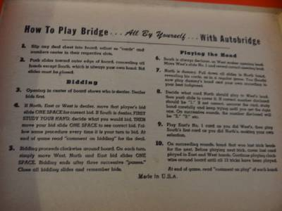 Vintage curtis cribbage counter auto bridge antique bridge for Charity motors bridge card